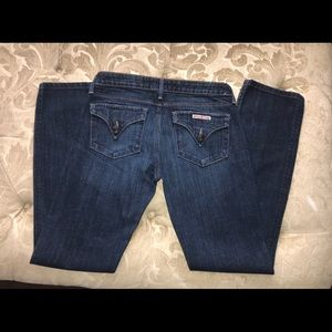 Gently worn Hudson dark wash jeans
